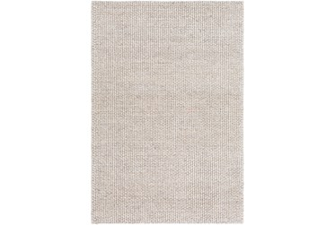 8'x10' Rug-Polyester And Wool Woven Ivory