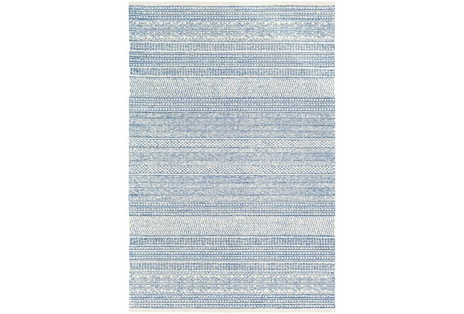 24X36 Rug-Global Inspired Denim/Cream - 360