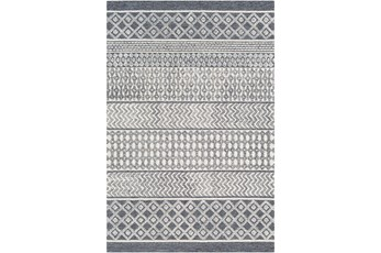 120X168 Rug-Global Inspired Charcoal/Cream