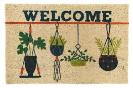 36X24 Doormat-Welcome Hanging Plants