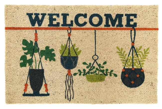 36X24 Doormat-Welcome Hanging Plants - 360