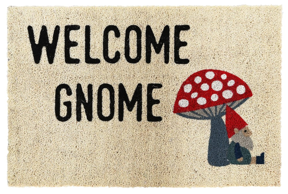 36X24 Doormat-Welcome Gnome