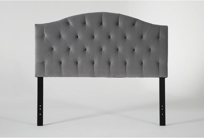 Bella Queen Velvet Upholstered Headboard - 360