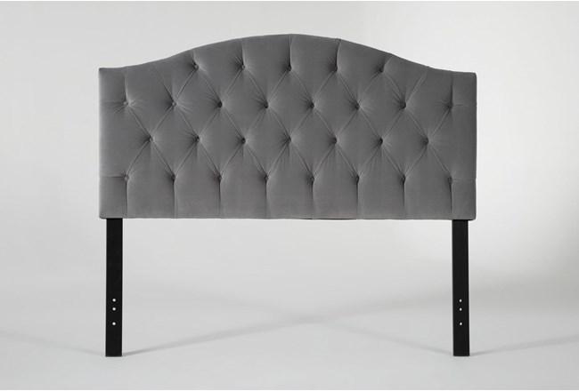 Bella California King Velvet Upholstered Headboard - 360