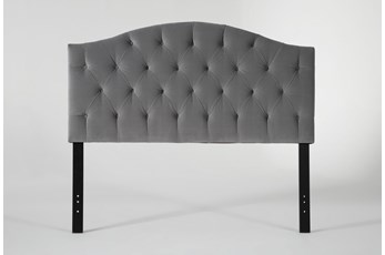 Bella Eastern King Velvet Upholstered Headboard