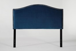Belmont California King Velvet Upholstered Headboard