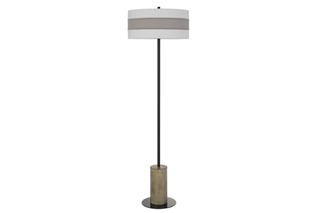 Floor Lamp-Jamille Wood Metal - Main