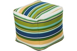 Pouf-Youth Blue And Green Stripe