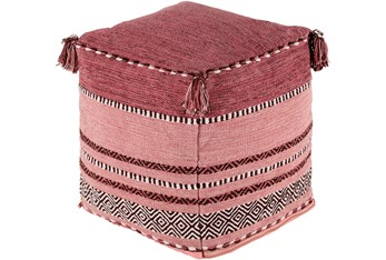 Pouf-Youth Pink And Blush Tassled