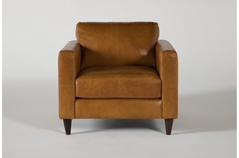 Magnolia Home Weekender Camel Leather Chair By Joanna Gaines