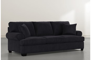 Brody Dark Grey Velvet Sofa