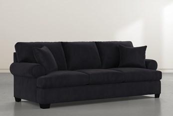"""Brody 93"""" Dark Grey Velvet Sofa"""