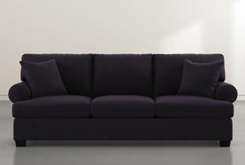 """Brody Black Velvet 93"""" Sofa"""