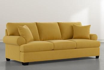 "Brody Yellow 93"" Sofa"