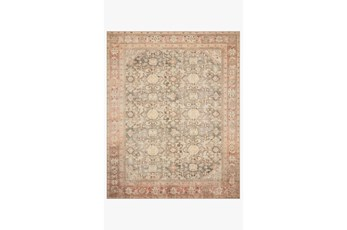 27X45 Rug-Magnolia Home Deven Charcoal/Blush By Joanna Gaines