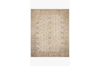 90X114 Rug-Magnolia Home Deven Cream/Latte By Joanna Gaines
