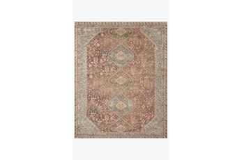 27X45 Rug-Magnolia Home Deven Spice/Sky By Joanna Gaines