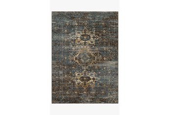 """2'6""""x4' Rug-Magnolia Home James Midnight/Sunset By Joanna Gaines"""