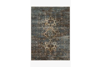 "7'8""x10'8"" Rug-Magnolia Home James Midnight/Sunset By Joanna Gaines"