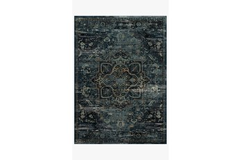 "7'8""x10'8"" Rug-Magnolia Home James Ocean/Onyx By Joanna Gaines"