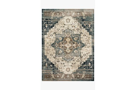 31X48 Rug-Magnolia Home James Taupe/Marine By Joanna Gaines