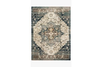 "2'6""x13' Rug-Magnolia Home James Taupe/Marine By Joanna Gaines"
