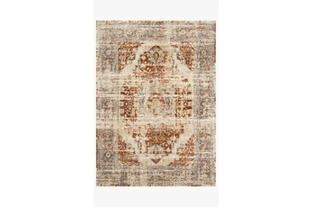 "2'6""x4' Rug-Magnolia Home James Rust/Sky By Joanna Gaines"