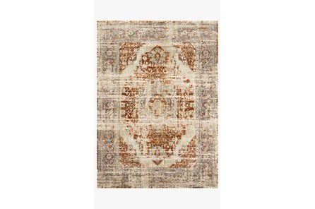 114X156 Rug-Magnolia Home James Rust/Sky By Joanna Gaines