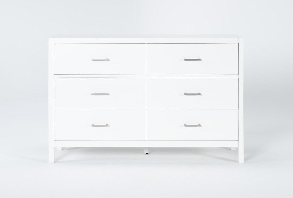 Reese White 6 Drawer Dresser