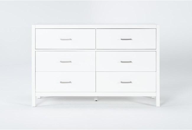 Reese White 6 Drawer Dresser - 360