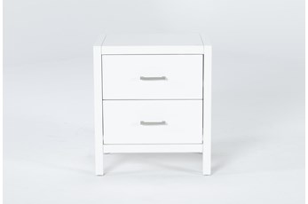 "Reese White 25"" Nightstand"