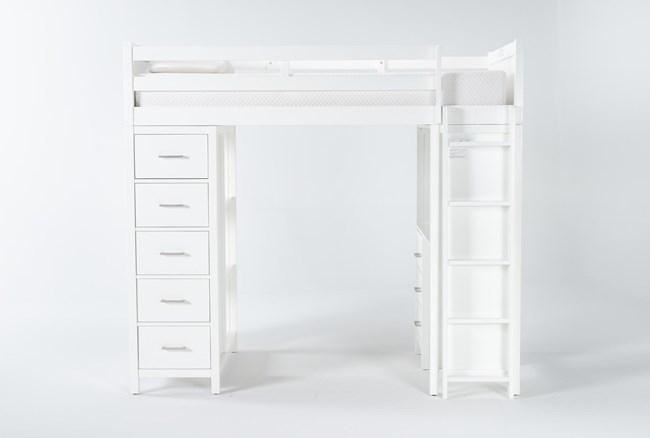 Reese White Loft Bed - 360