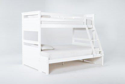 Reese White Twin Over Full Bunk Bed Living Spaces