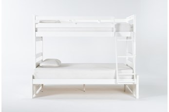 Reese White Twin Over Full Bunk Bed