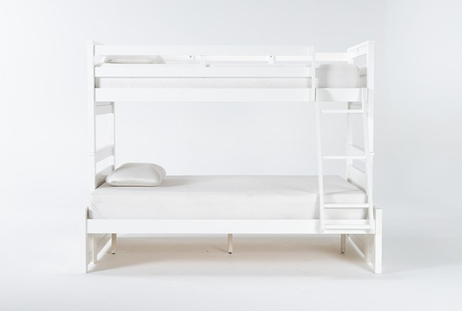Reese White Twin Over Full Bunk Bed - 360