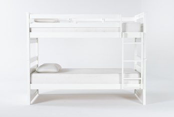 Reese White Twin Over Twin Bunk Bed