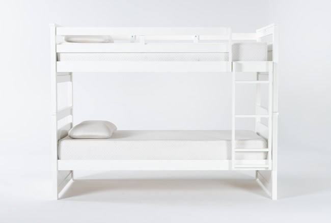 Reese White Twin Over Twin Bunk Bed - 360
