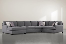 """Scott II 3 Piece 156"""" Sectional With Left Arm Facing Chaise"""