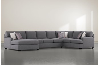 "Scott 3 Piece 156"" Sectional With Left Arm Facing Chaise"