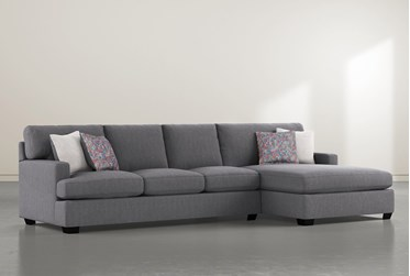 """Scott II 2 Piece 130"""" Sectional With Right Arm Facing Chaise"""
