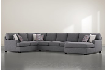 """Scott 3 Piece 156"""" Sectional With Right Arm Facing Chaise"""