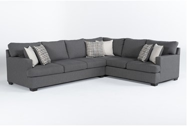 """Scott II 2 Piece 123"""" Sectional With Left Arm Facing Sofa"""