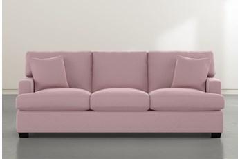 """Scott 90"""" Pink Velvet Sofa"""