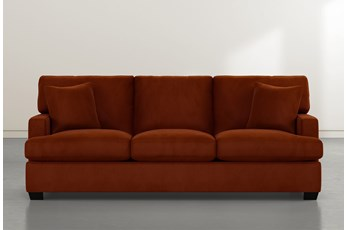 Scott Orange Velvet Sofa