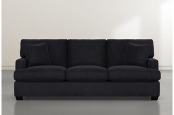 Scott Dark Grey Velvet Sofa