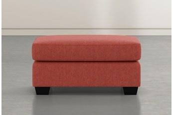 Jenner Red Ottoman