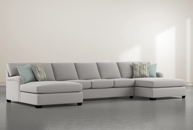 """Jenner 3 Piece 170"""" Sectional With Double Chaise - 360"""