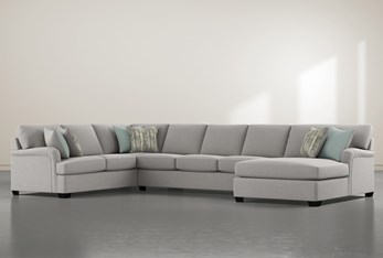 """Jenner 3 Piece 163"""" Sectional With right Arm Facing Chaise"""