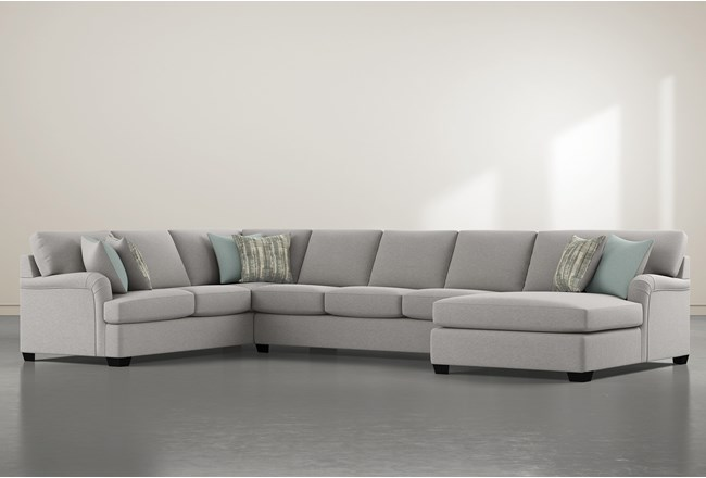 """Jenner 3 Piece 163"""" Sectional With right Arm Facing Chaise - 360"""