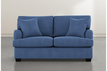Jenner Blue Loveseat